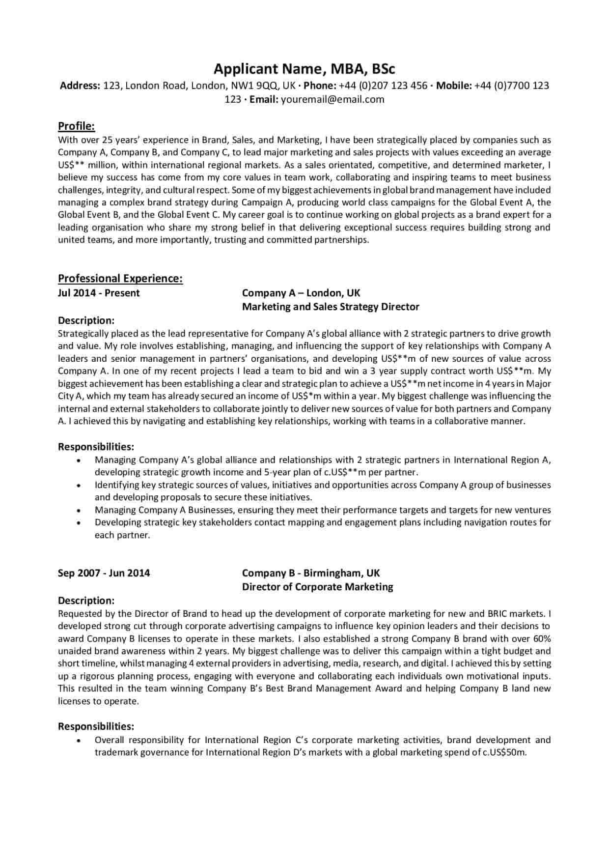 cv  u0026 linkedin profile writing